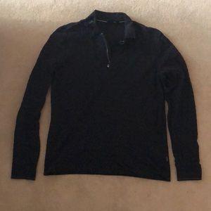 Hugo Boss Pima Cotton Quarter ZIP Colored Shirt